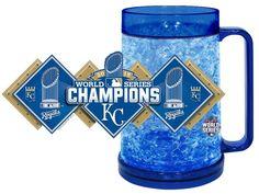 Kansas City Royals Full Color Crystal Freezer Mug - Hunter, 2015 World Series Champion