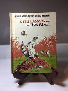 A personal favorite from my Etsy shop https://www.etsy.com/listing/506381003/1972-little-raccoon-and-no-trouble-at