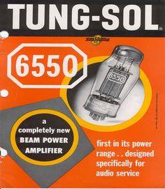 TUNG-SOL 6550 brochure via Vintedge61
