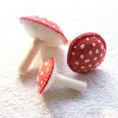 cute felt mushrooms