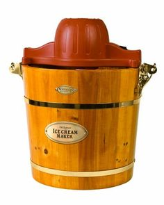 (CLICK IMAGE TWICE FOR UPDATED PRICING AND INFO) #home #appliances #smallapliances #yogurt #frozenyogurt #frozenyogurtmaker #icecream #icecreammaker #deserts #recipes #kitchen  Nostalgia Electrics ICMW-400 4-Quart Wooden Bucket Electric Ice Cream Maker  - See More Ice Cream Maker at  http://www.zbuys.com/level.php?node=7104=ice-cream-sundae-makers