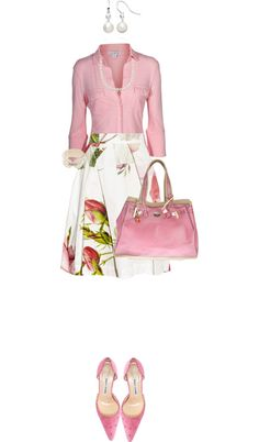 """Rosy White"" by angela-windsor on Polyvore"