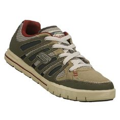 Skechers Relaxed Fit Arcade II Shoes (Olive) - Men's Shoes - 14.0 M