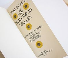 Antique Book The Peace Of The Solomon Valley 1913 Margaret