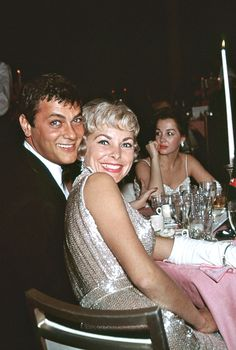 Tony Curtis and Janet Leigh photographed by Bernie Abramson at the 33rd Annual Academy Awards, 1961.
