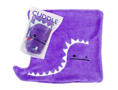 World's cutest purple dino cuddle blanket!
