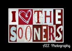 I heart the Sooners Letter Art Print by a2zphotography on Etsy, $20.00