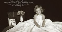 Children Photography, Daughter wearing mother& wedding dress, little girl photo ideas