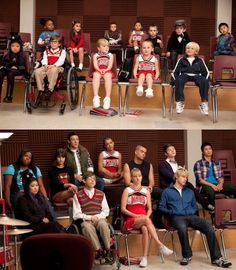 The Glee cast and their mini me's...so so adorable!