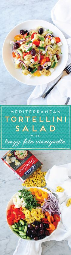Boasting crisp, colorful veggies and tender cheese-stuffed pasta, this picnic tortellini salad is sure to please. We add a flavorful feta vinaigrette for a tangy finish!
