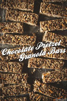 Chocolate Pretzel Granola Bar Recipe