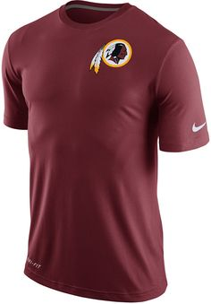 Stay cool and comfortable while making it clear where your loyalty lies with this Nike NFL Dri-FIT Touch t-shirt. You'll love representing the Washington Redskins whether you're working out or watching the game. Crew neckline Short sleeves Screen print team logo at front Screen print Nike swoosh logo at left sleeve Regular fit Moisture-wicking Dri-FIT technology Tagless Polyester Machine washable