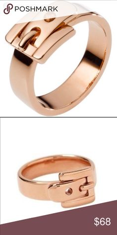 Michael Kors Rose Gold Buckle Ring Preowned but good condition ring only size 5 Michael Kors Jewelry Rings #GoldJewelleryMichaelKors