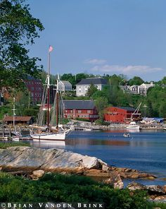 Rockport Harbor, Rockport, Maine - this is where I currently live and work!