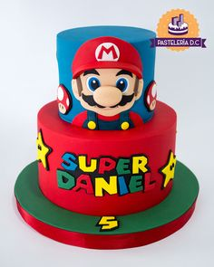 Super Mario Party, Super Mario Bros, Mario Bros Kuchen, Mario Bros Cake, Luigi Cake, Mario Kart Cake, Bolo Do Mario, Bolo Super Mario, Super Mario Cupcakes