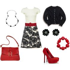 Black, White & Red. Perfect for Valentines