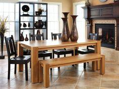Esszimmertisch Mit Stühlen Massivholzmöbel Holzbank