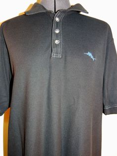 Tommy Bahama Casual Golf Shirt Mens Sport Athletic Light Polo Top Black L #TommyBahama #PoloRugby