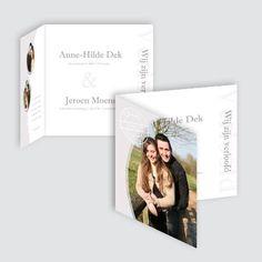 Verlovingskaart Anne-Hilde en Jeroen, ontworpen door Ontwerp Studio Rottier