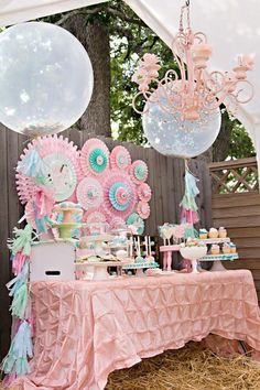 The Sweet set up of the dessert table