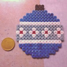 Christmas bauble ornament hama beads by rymus15