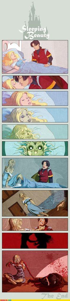 Sleeping Zombie Beauty #Twisted #Disney #Sleeping #Beauty