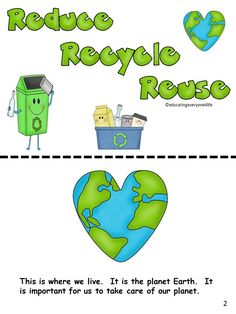 Earth Day - Student can read this book to learn about the importance of reducing, recycling, and reusing.