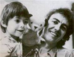 George and little Dhani having some play time.
