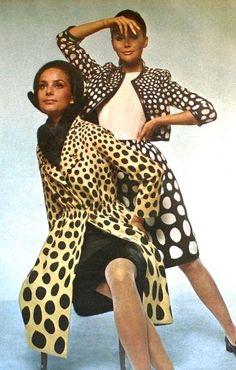Polka dot fashions by Jacques Heim, 1966