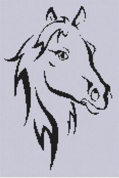 Horse Head 4 Cross Stitch Pattern
