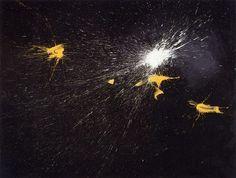1957 - Segno timbrico, tempera su faesite cm 130x170