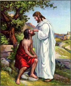 Children's Bible Lessons, Jesus heals the blind man, for elementry and middle school students. Fun online educational games and worksheets are provided free for each Bible story. Bible Story Book, Bible Stories, Bible Pictures, Jesus Pictures, Jesus Is Lord, Jesus Christ, Savior, Miracles Jesus Performed, Sermon Illustrations