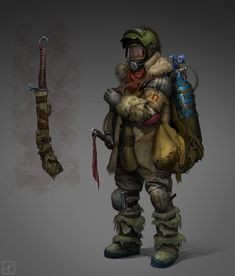 Survivor Design by Pavel Proskurin Apocalypse Character, Apocalypse Art, Apocalypse Survival, Post Apocalyptic Costume, Post Apocalyptic Art, Character Concept, Character Art, Concept Art, Twilight Princess
