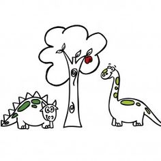 dinosaurios a por la manzana