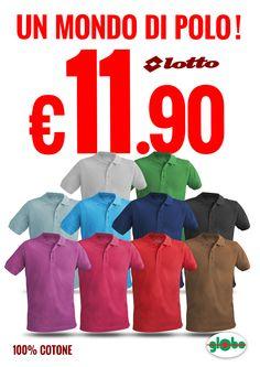 Super Offerta! Polo Lotto Uomo/Donna a solo € 11.90  Scegli il colore della tua estate!!