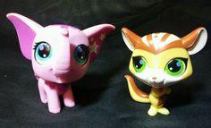 Littlest Pet Shop Totally Talented LAVENDER ELEPHANT & CHIPMUNK lps 2693 & 2692 #Hasbro