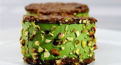 GreenChef Russel James | Cacao Pistachio Florentine Mint Ice Cream Sandwich #vegan