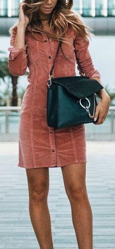 Button down dress.