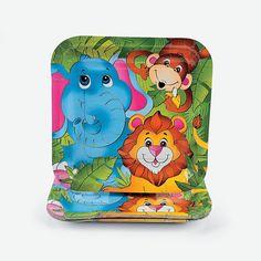 8 Zoo Animal Dinner Plates - OrientalTrading.com