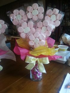 Diy mother's day gift idea. Marshmallow flowers!