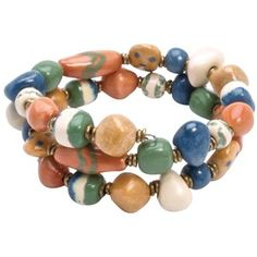 Kazuri - http://www.kazuribeads.co.uk/catalogue/item/kazuri/bracelets/kazuri-beads-bracelet-kaleidoscope-atlantic-cloud