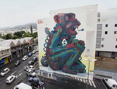 Street Murals by Aryz