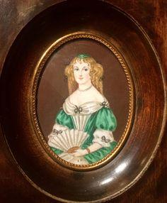 Antique Portrait Miniature Of Madame de Sévigné