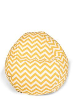 """Zig Zag Small Bean Bag - Yellow - 28"""" x 28"""" x 22"""" by Colorful Outdoor Living on @HauteLook"""