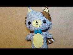 DIY Peluche de Gatito - Llavero de Fieltro Kawaii - Paso a Paso | Mini Tip # 76 - YouTube Recycled Crafts, Sewing Tutorials, Recycling, Teddy Bear, Diy, Kawaii, Dolls, Handmade, Couture