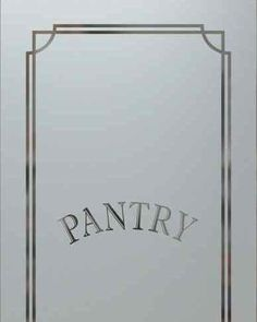 Glass Pantry Doors :: Frosted Glass Interior Door Kitchen Pantry