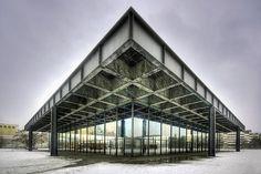 Neue Nationalegalerie designed by L. Mies van der Rohe. Berlin