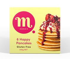 Marcel's Happy Pancakes are light, fluffy and Gluten Free, every mouthful is a taste of happy.  Individually wrapped so you can take out as many or as little as you need without the worry of any cross contamination.