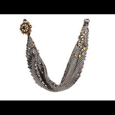 N-Twisted Metal Mesh Necklace (Multi) Necklace by Juicy Couture