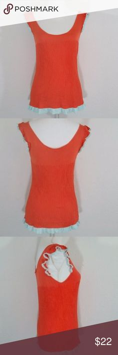 """Chelsea & Violet Ruffle Color Block Tank #199 Hi Guys! i'm Selling this Cute Chelsea & Violet Tank top! i promise the true color of this tank is pink but my camera wouldn't pick it up. It's a size Medium in Good Condition. Measurements: Pit to pit is 15.5"""". Waist 14"""". Length 25"""". fabric is pretty stretchy! Chelsea & Violet Tops Tank Tops"""